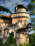 BOJNICE Castle - is one of the most visited castles in Slovakia. Bojnice Castle is a medieval castle in Bojnice, Slovakia. It is a Romantic castle with some royalty free stock photography