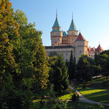 Bojnice castle and park Royalty Free Stock Image