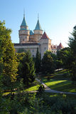 Bojnice castle and park Stock Photos