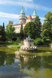 Bojnice castle with reflection Royalty Free Stock Photo