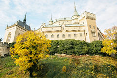 Bojnice castle in Slovak republic, seasonal scene Royalty Free Stock Photography