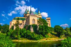 Bojnice castle in Slovakia royalty free stock images