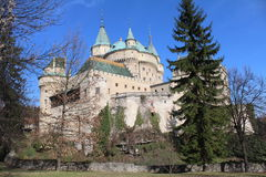Romantic castle. Romantic Bojnice castle in Slovakia, Europe royalty free stock photo