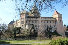 Bojnice castle, Slovakia Royalty Free Stock Photos