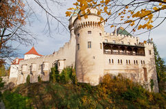 Bojnice castle at sunset Royalty Free Stock Photo