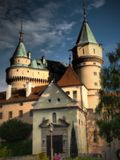 BOJNICE Castle - is one of the most visited castles in Slovakia. Bojnice Castle was first mentioned in written records in 1013, in a document held at the Zobor royalty free stock image