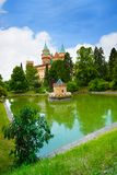 Bojnice and pond Royalty Free Stock Image