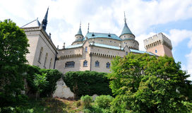 Bojnice-Schloss, Slowakei, Europa Lizenzfreies Stockbild