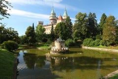 Bojnice Schloss und Park stockfoto