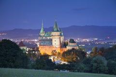 Bojnice slott. royaltyfri fotografi
