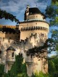 BOJNICE-slotten - ?r en av de mest bes?kte slottarna i Slovakien royaltyfri fotografi