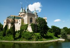 Bojnický-Schloss Stockbilder
