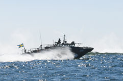 Bojowa łódź 90 przy wysoką prędkością Zdjęcie Stock