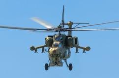 Bojowi helikoptery Berkuty Rosja, Petersburg, Czerwiec 2017 Zdjęcia Royalty Free
