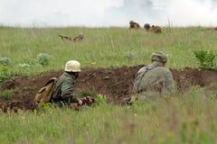 bojowi niemieccy żołnierze ww2 Fotografia Stock
