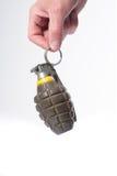 bojowy granata ręki mienia ananas Zdjęcia Royalty Free
