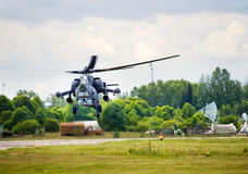 Bojowy helikopter Fotografia Royalty Free