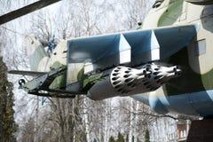 Bojowy helikopter, Mi-24 Zdjęcia Stock
