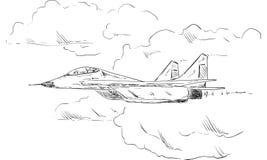 Bojowy samolot Zdjęcia Royalty Free