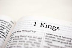 Bok av konungar 1 Arkivbild