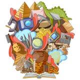 Bok av kunskap för arkeologi vektor illustrationer