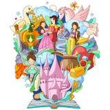Bok av kunskap för fantasiberättelse stock illustrationer