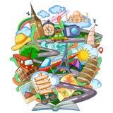 Bok av kunskap för lopp royaltyfri illustrationer