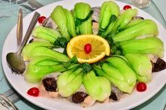 bok chińska choy naczynia pieczarka Shanghai Zdjęcia Royalty Free