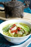 Bok choi soup Stock Images