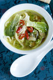 Bok choi soup Stock Photography