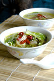 Bok choi soup Royalty Free Stock Images