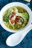 Bok choi Suppe stockfotografie