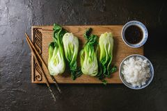 Bok choy με το ρύζι Στοκ φωτογραφίες με δικαίωμα ελεύθερης χρήσης