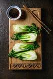 Bok choy με το ρύζι Στοκ Φωτογραφίες