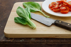 Bok choy (китайская капуста или geng cai Qing) Стоковая Фотография