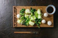 Bok choy с рисом Стоковое Изображение RF