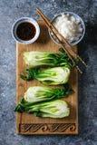 Bok choy z ryż Fotografia Royalty Free