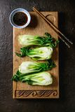 Bok choy z ryż Zdjęcia Stock