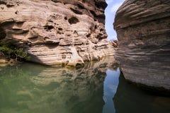 Bok de Sam Phan de canyon grand de la Thaïlande chez Ubon Ratchathani, Thaïlande Image stock