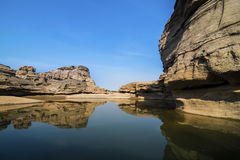 Bok de Sam Phan de canyon grand de la Thaïlande chez Ubon Ratchathani, Thaïlande Images stock