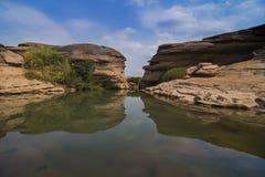 Bok de Sam Phan de canyon grand de la Thaïlande chez Ubon Ratchathani, Thaïlande photos stock
