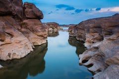 Bok e Grand Canyon di stupore di Sam phan in Tailandia Immagini Stock Libere da Diritti