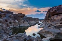 Bok e Grand Canyon di stupore di Sam phan in Tailandia Fotografia Stock Libera da Diritti