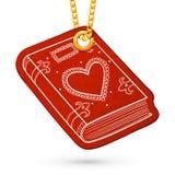 Bok eller album med hjärta Arkivfoton