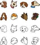 Bok för hundkapplöpningsamlingsfärgläggning Arkivbilder