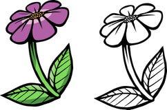 Bok för lilablommafärgläggning Arkivbild