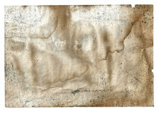 Bok för tom sida för gammal tappning smutsig sönderriven på en vit arkivfoto