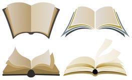 Bok Logo Elements royaltyfri illustrationer