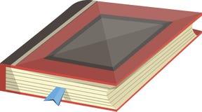 Bok med en bokmärke i vektor Royaltyfri Foto