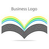 Bok med färgsidor, illustration för vektor för affärslogomateriel royaltyfri illustrationer